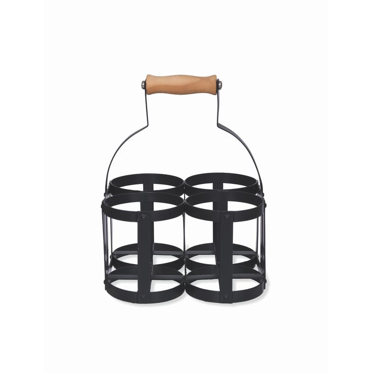 Milk Bottle Holder in Black | Garden Trading