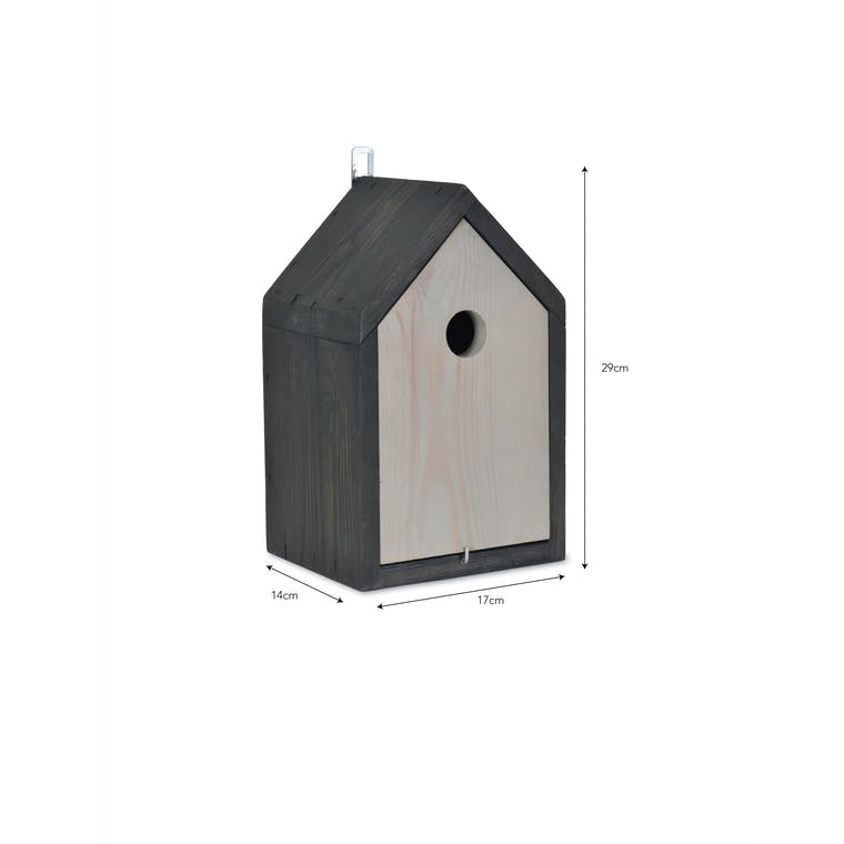 Wooden Stained Bird House | Garden Trading