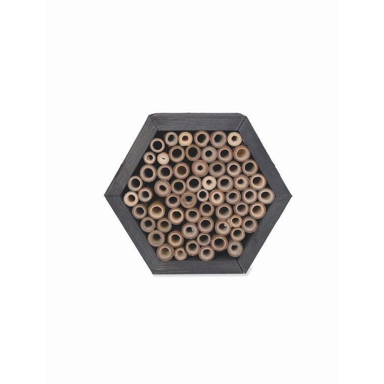 Wooden Hexagonal Wild Bee House | Garden Trading