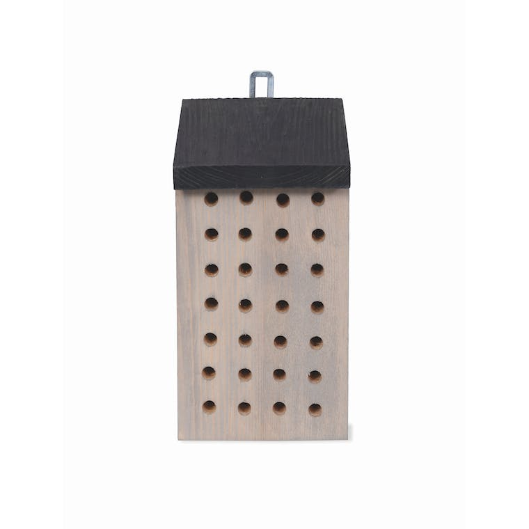 Wooden Stained Bee House   Garden Trading
