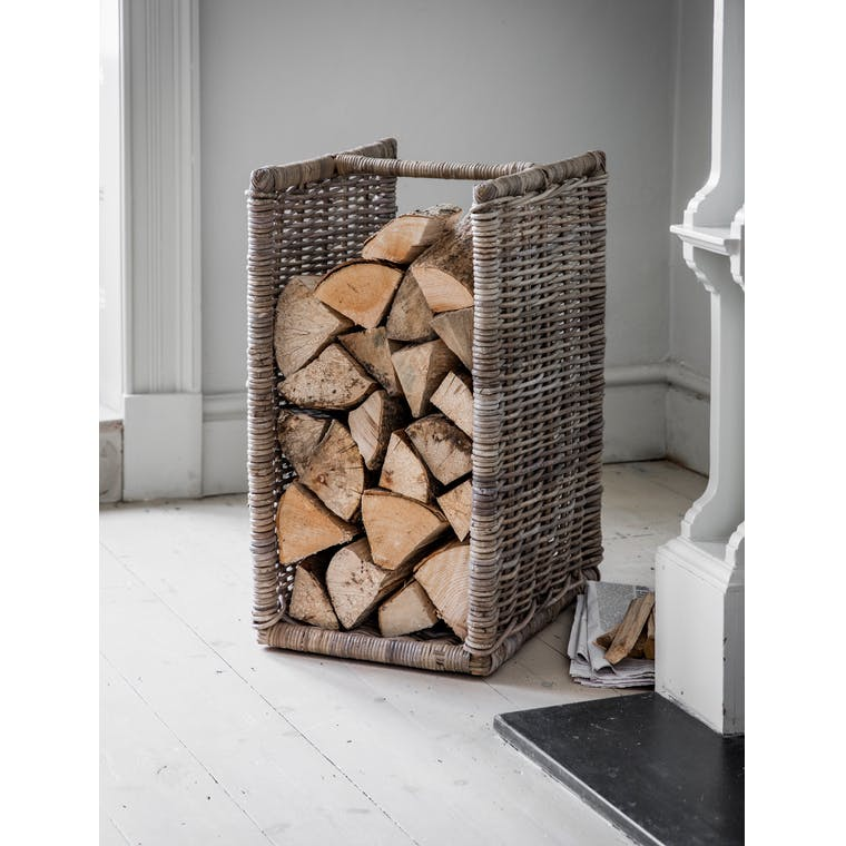Rattan Bembridge Log Holder | Garden Trading