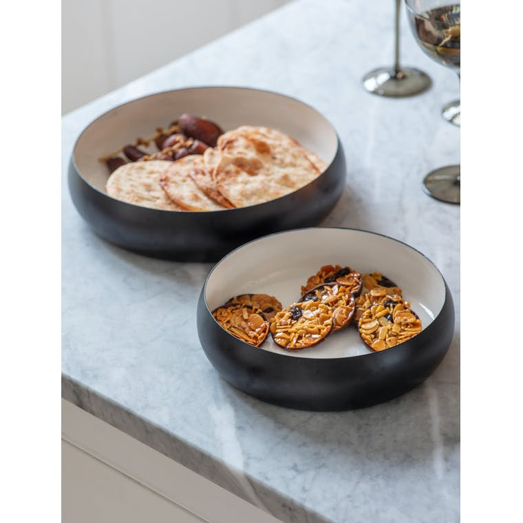 Iron Set of 2 Bourdon Bowls | Garden Trading
