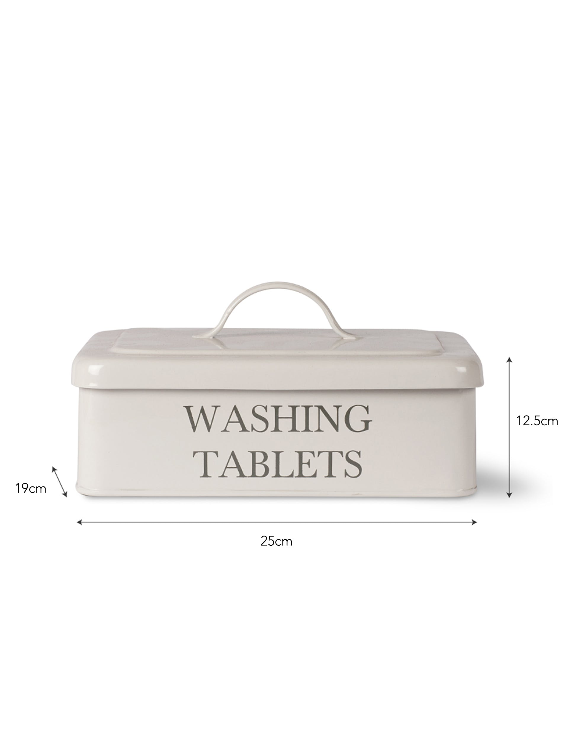 Steel Washing Tablet Box in White or Black | Garden Trading