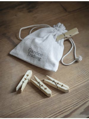Bamboo Pegs in a Bag