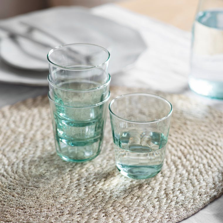Recycled Glass Set of 4 Broadwell Tumblers | Garden Trading