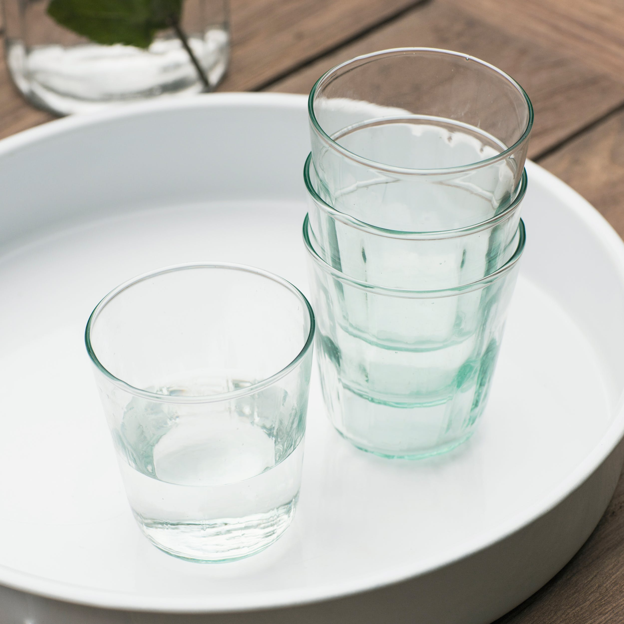 Recycled Glass Set of 4 Broadwell Tumblers   Garden Trading