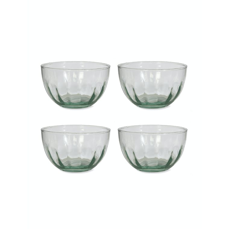 Recycled Glass Pair of Broadwell Dessert Bowls | Garden Trading