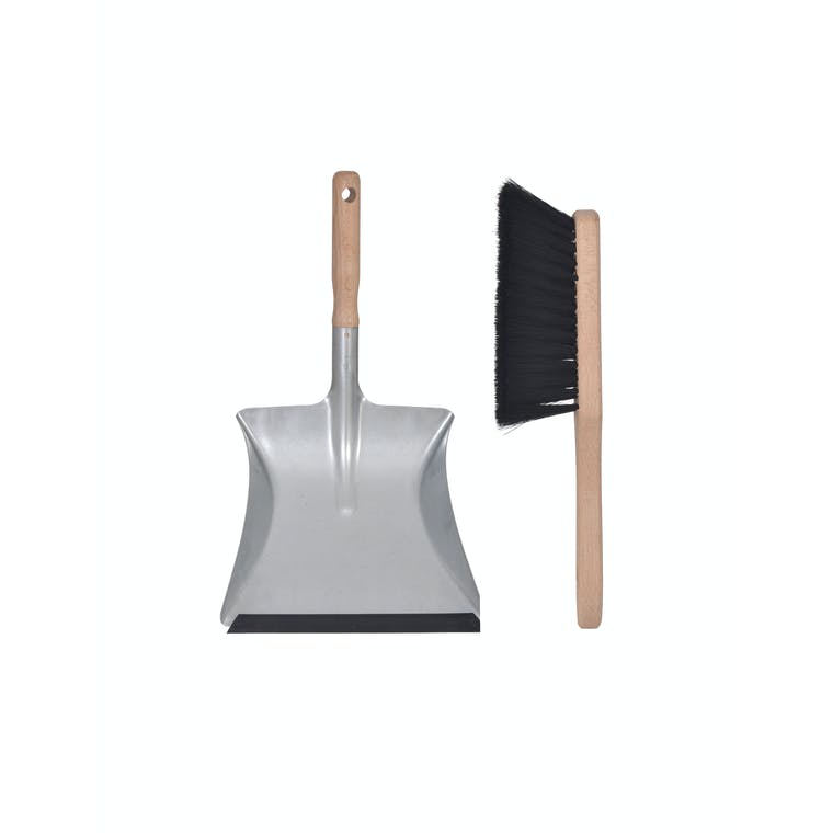 Galvanised Dustpan and Brush | Garden Trading
