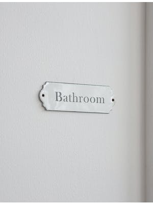 Enamel Bathroom Sign