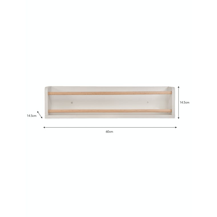 Wooden Melcombe Bottle Wall Shelf | Garden Trading