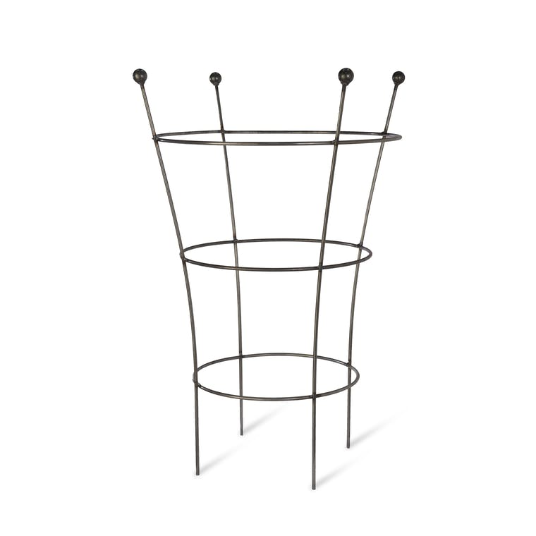 Raw Metal Flared Plant Support in Small or Large | Garden Trading