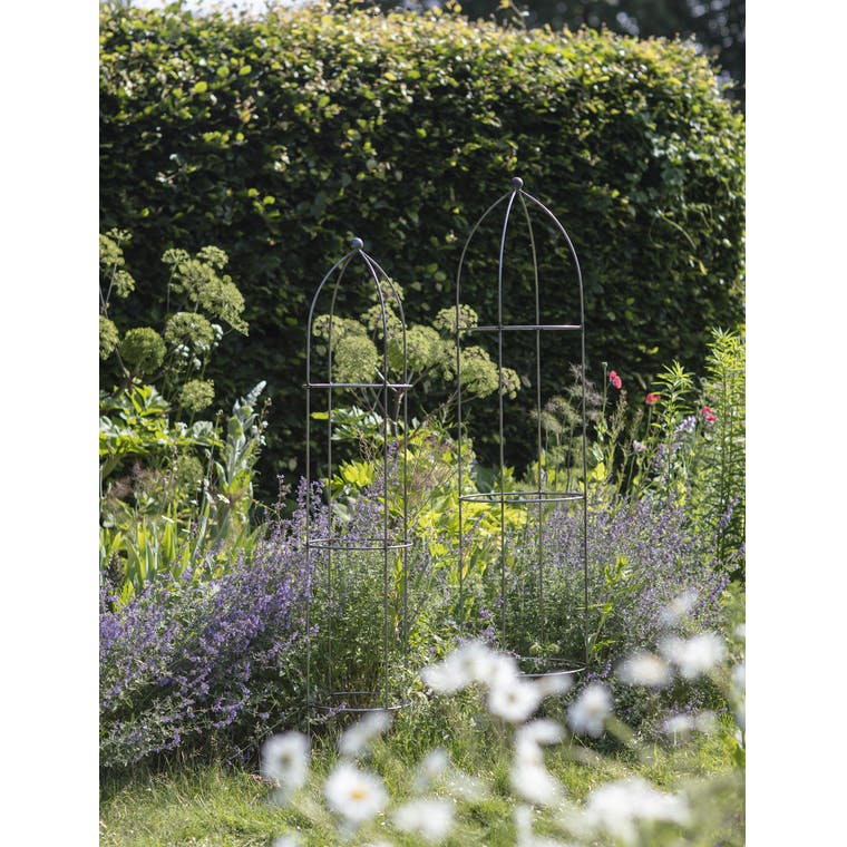 Raw Metal Barrington Obelisk Plant Support in Large or Extra Large  | Garden Trading