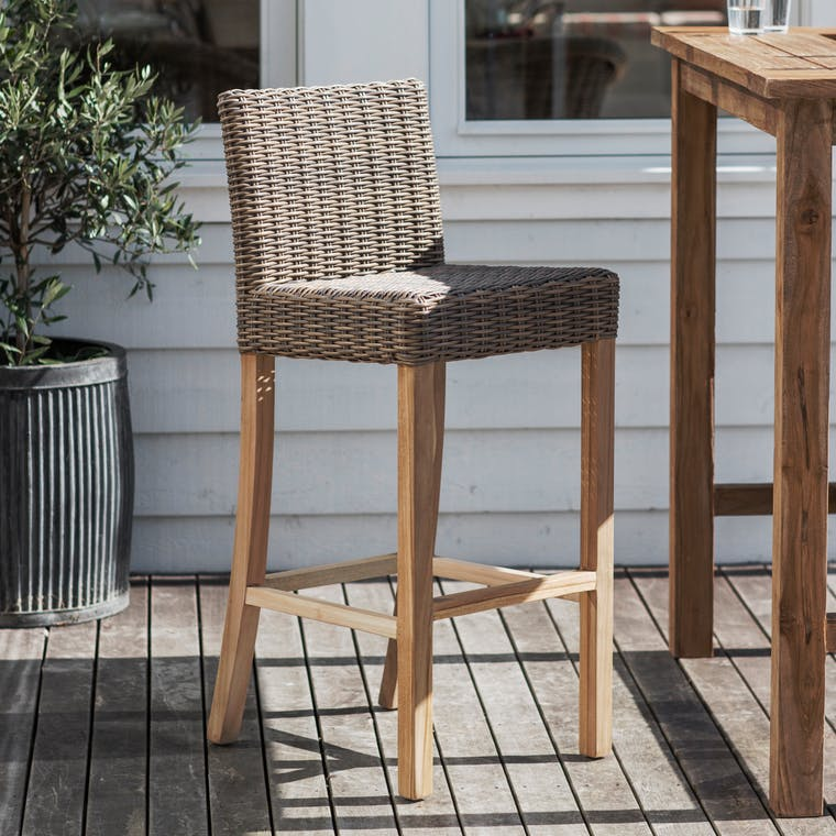 All-weather Rattan Lymington Bar Stool | Garden Trading