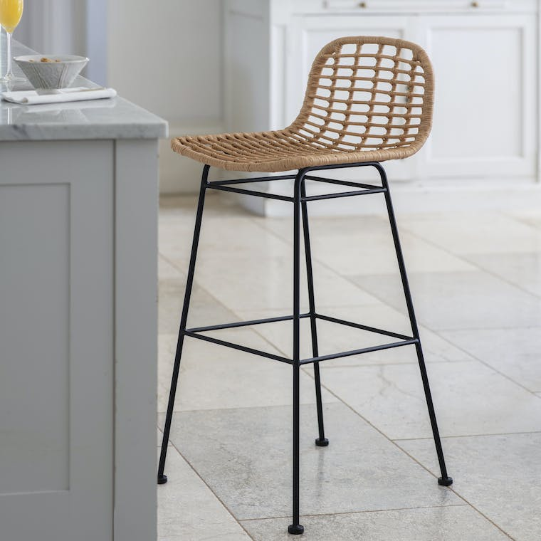 Woven Indoor Outdoor Hampstead Bar Stool | Garden Trading