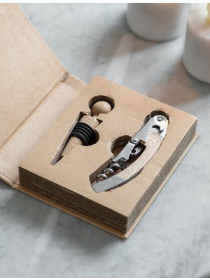Bottle Opener and Stopper Set