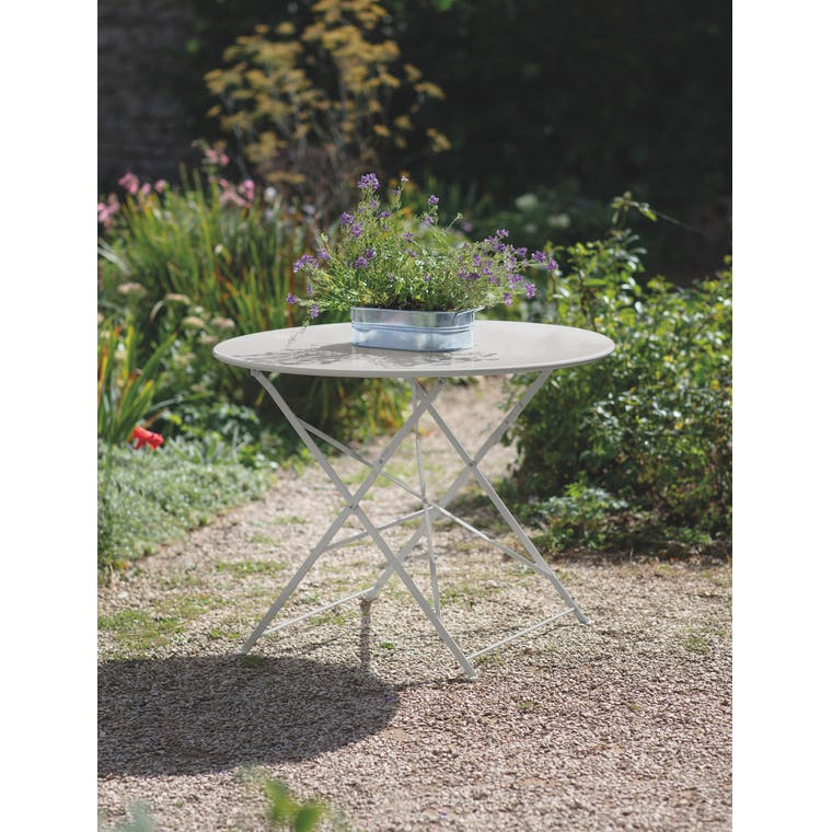 Garden Trading Rive Droite Bistro Table, Large in Clay - Steel