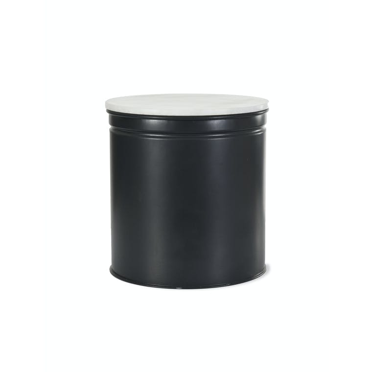 Steel and Marble Brompton Biscuit Tin in Black | Garden Trading
