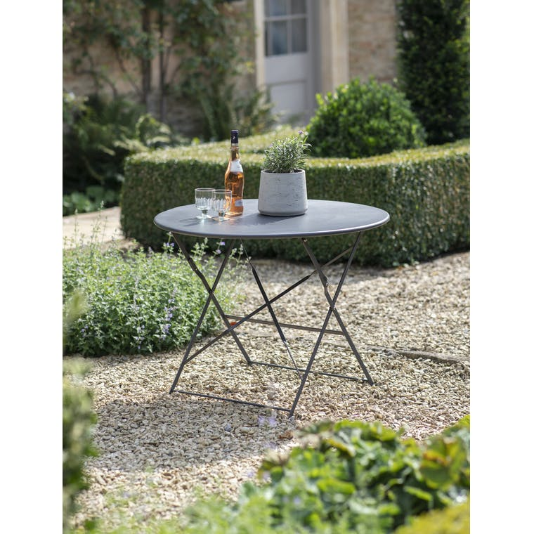 Garden Trading  Rive Droite Bistro Table, Large in Carbon - Steel