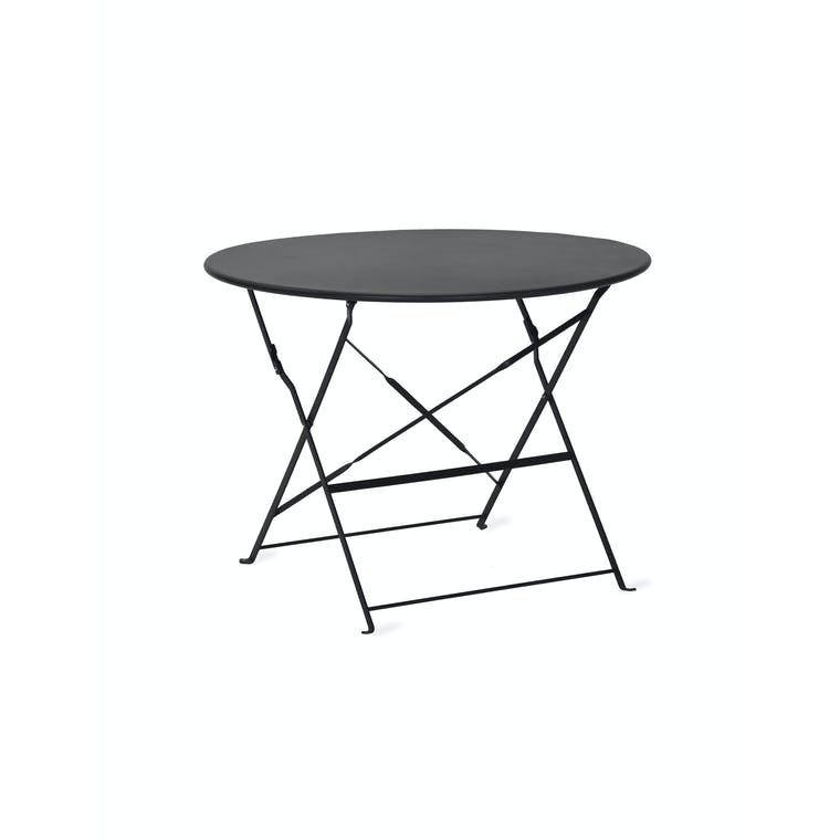 Steel Outdoor Bistro Table, Large in Black, White, Cream or Green | Garden Trading