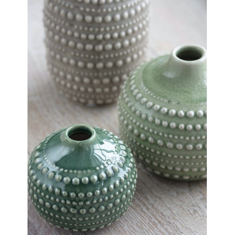 Ceramic Castello Bottle Vase in Small, Medium or Large | Garden Trading