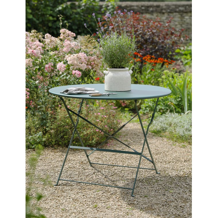 Rive Droite Bistro Table, Large in Forest Green by Garden Trading