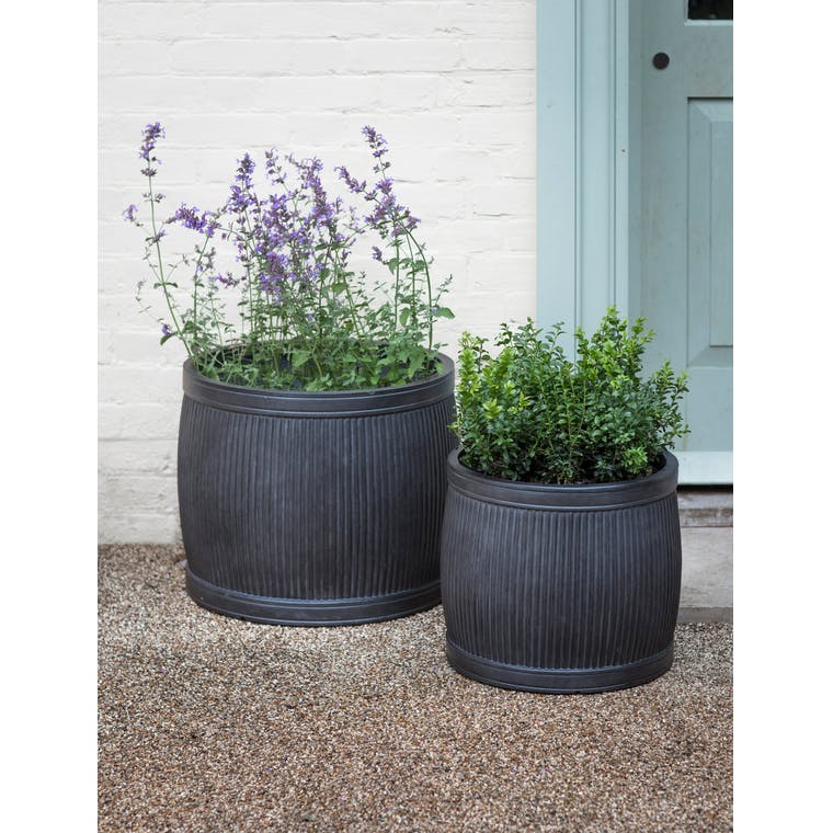 Fibre Clay Bathford Outdoor Planter in Small or Large | Garden Trading