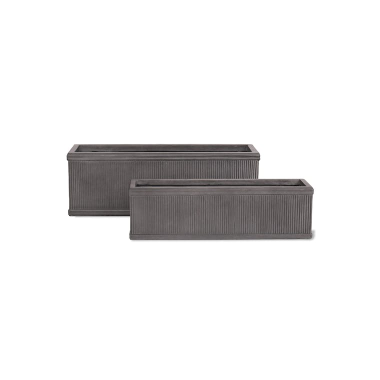 Fibre Clay Bathford Outdoor Planter Trough in Small or Large | Garden Trading