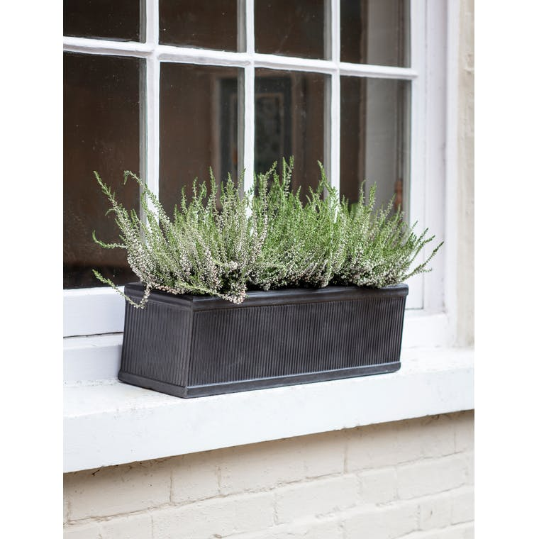 Fibre Clay Outdoor Planter Trough in Small or Large | Garden Trading
