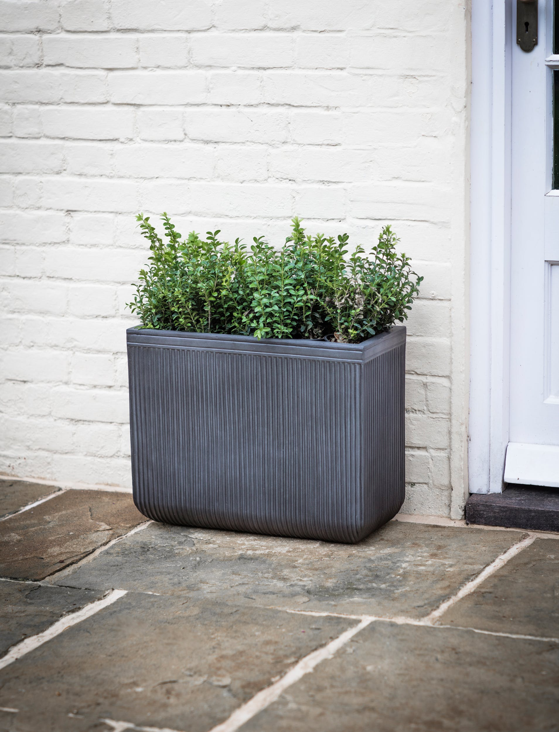 Fibre Clay Set of 2 Bathford Outdoor Rectangular Planters | Garden Trading