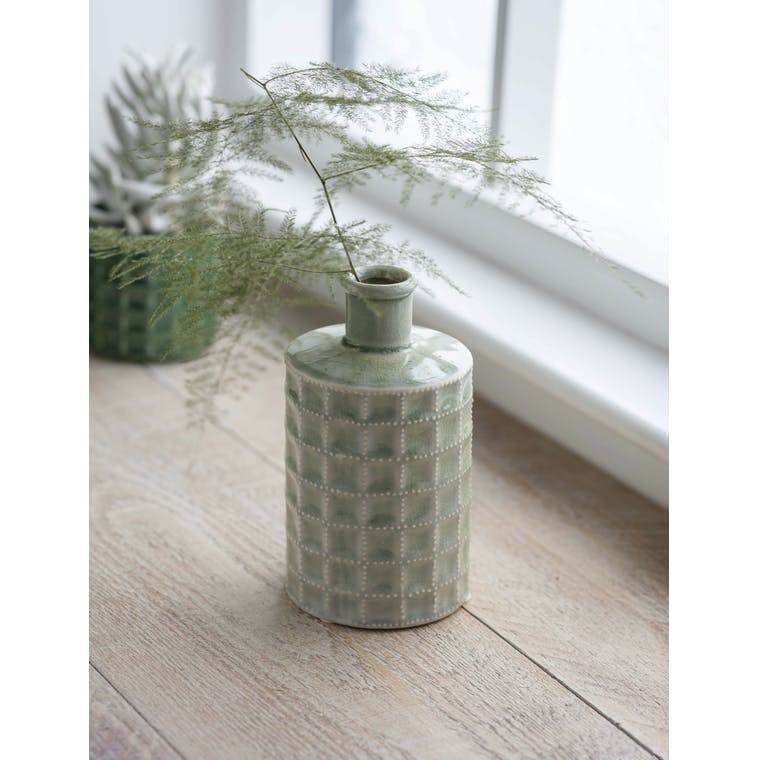 Garden Trading Sorrento Bottle, Large in Sage - Ceramic