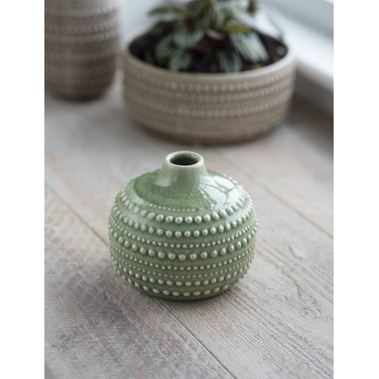 Garden Trading Castello Bottle, Medium in Sage - Ceramic