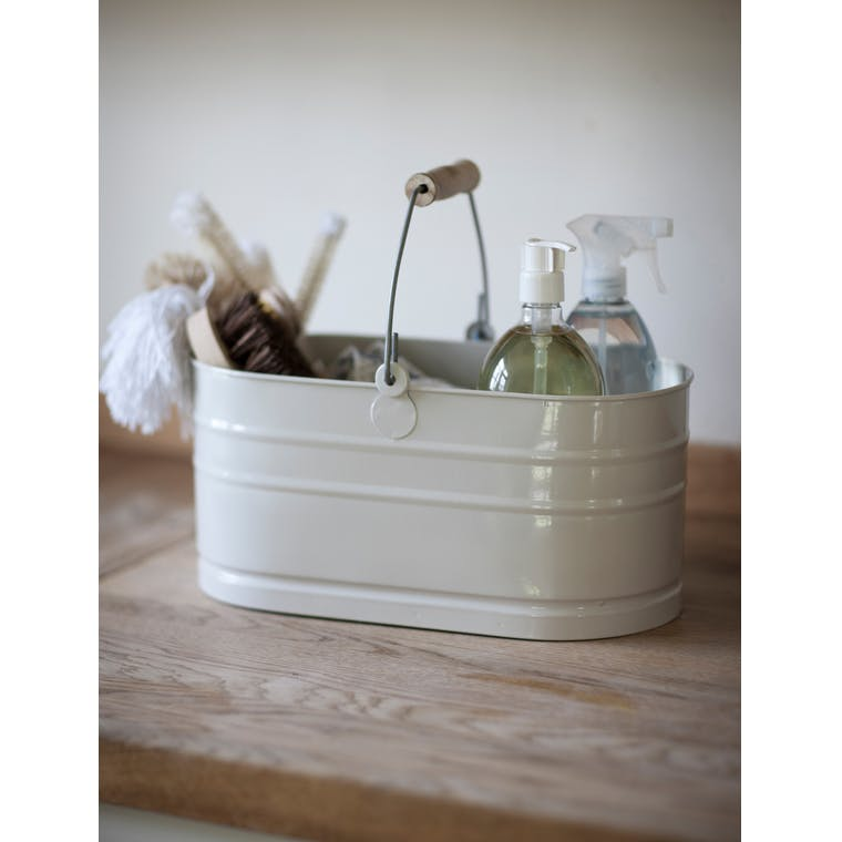 Steel Utility Bucket in White | Garden Trading