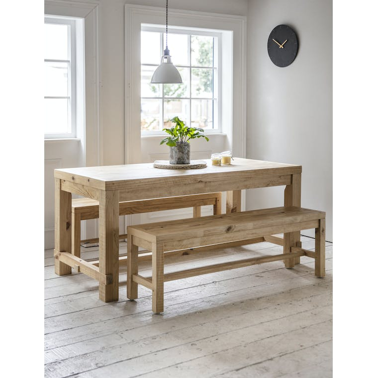 Wooden Brookville Table and Bench Set in Small or Large | Garden Trading