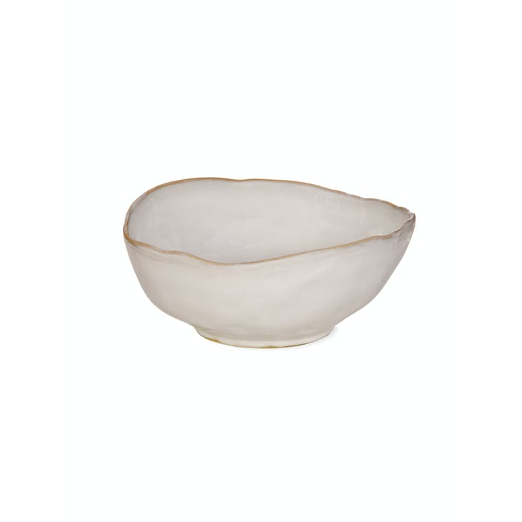 Ceramic Ithaca Bowl in White | Garden Trading