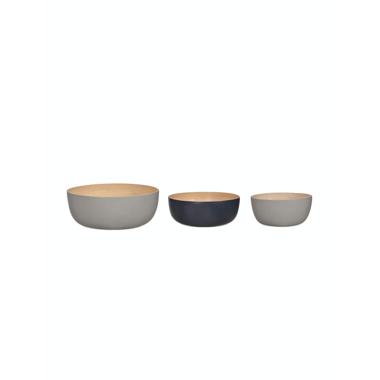 Bamboo Set of 3 Purbeck Bowls | Garden Trading