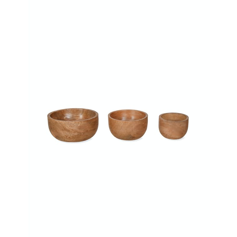 Wooden Set of 3 Midford Bowls | Garden Trading