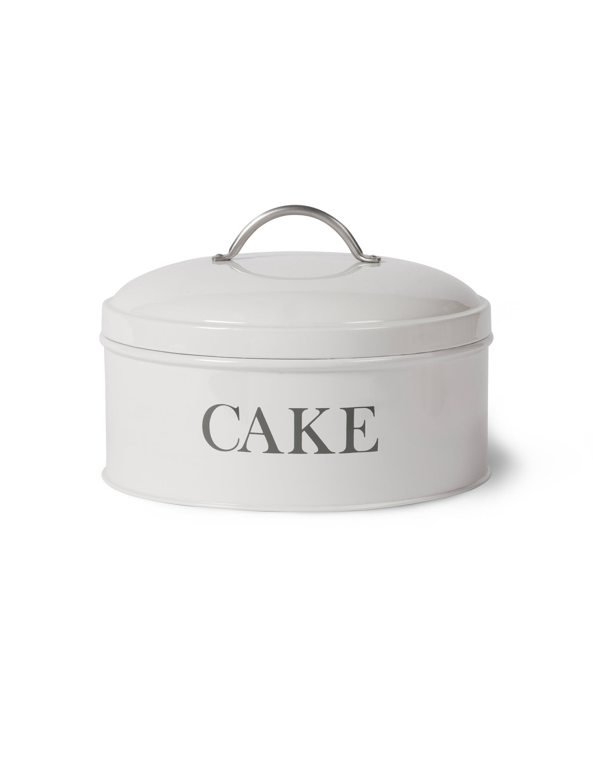 Steel Round Cake Tin in White or Grey | Garden Trading