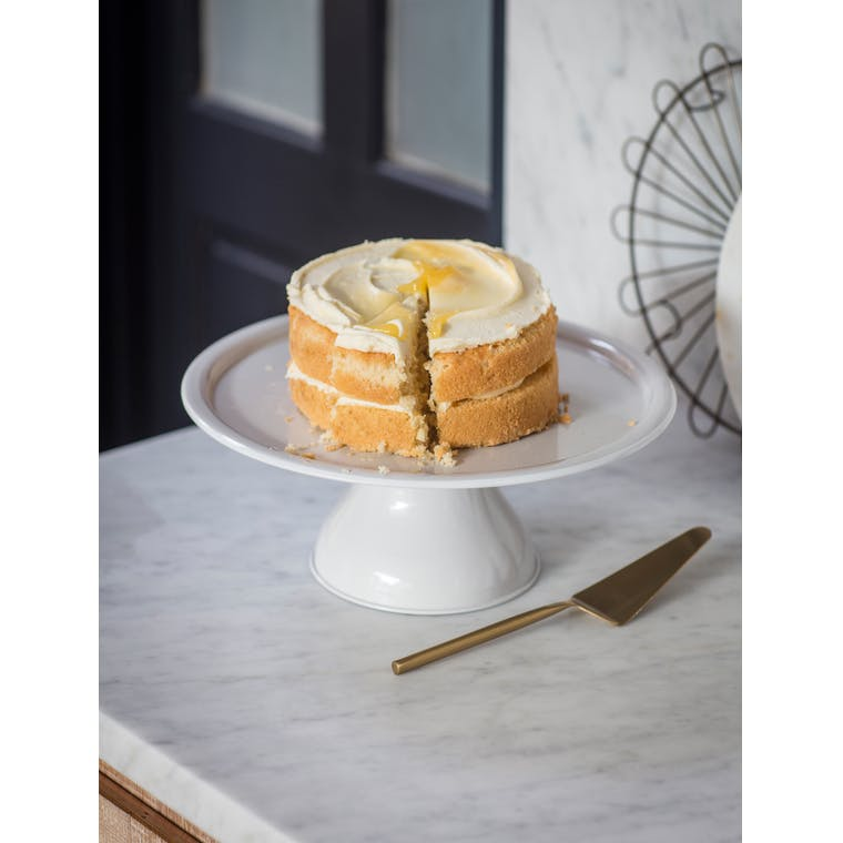 Steel Brompton Cake Stand in White | Garden Trading
