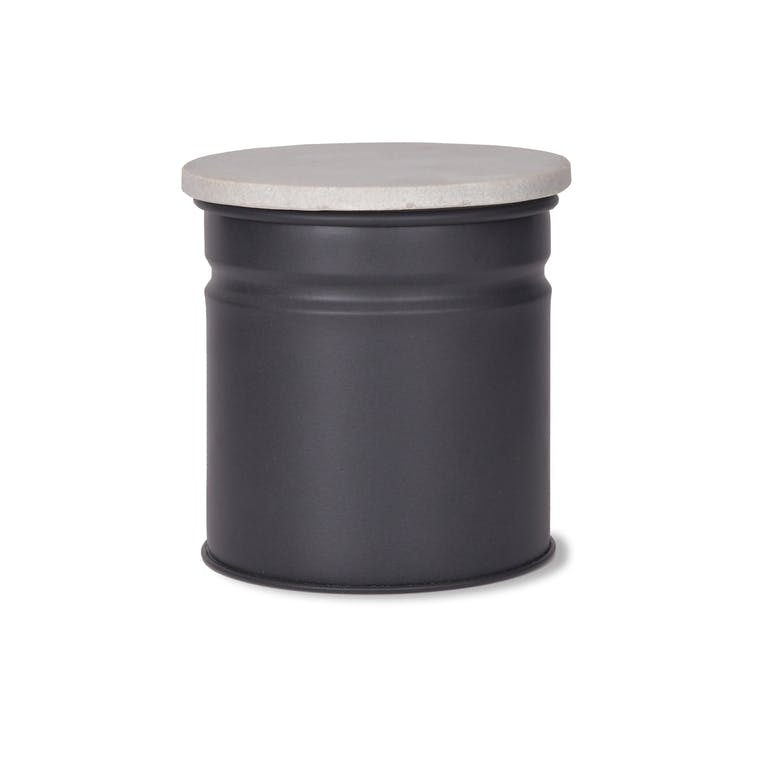 Marble and Steel Brompton Canister in Black or White   Garden Trading