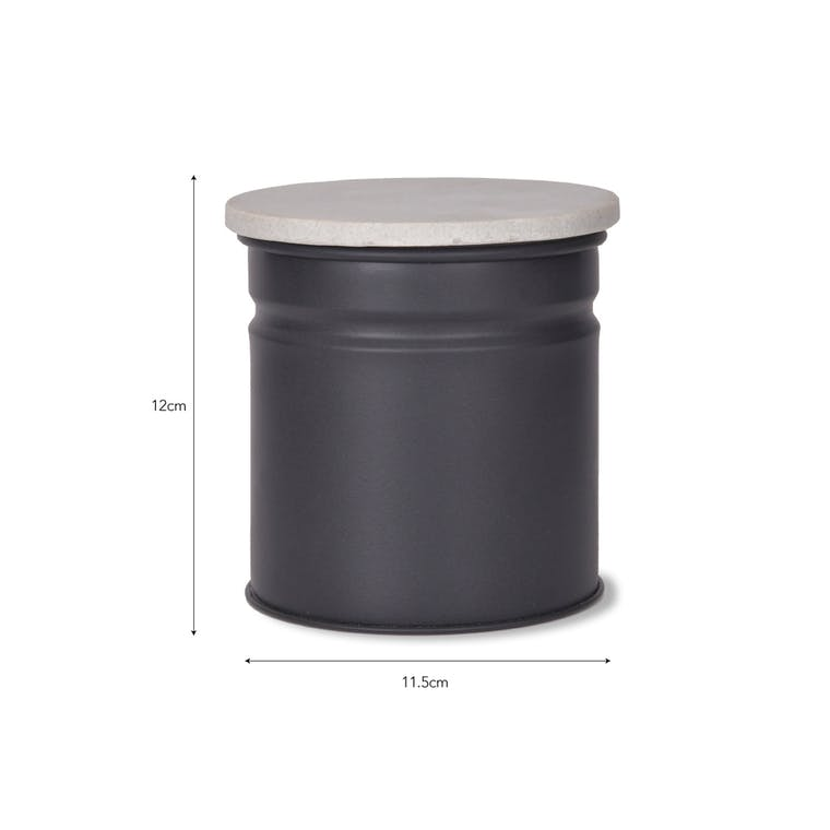 Marble And Steel Brompton Canister In Black Or White