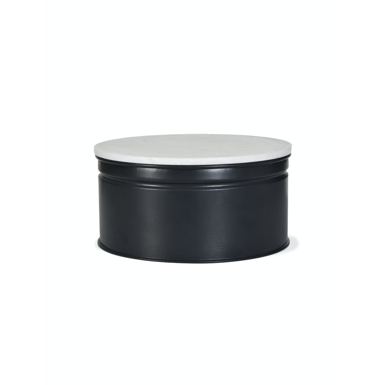 Steel and Marble Brompton Cake Tin in Black in 8 or 10 inch | Garden Trading