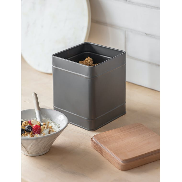 Steel Borough Canister Large in White or Grey   Garden Trading