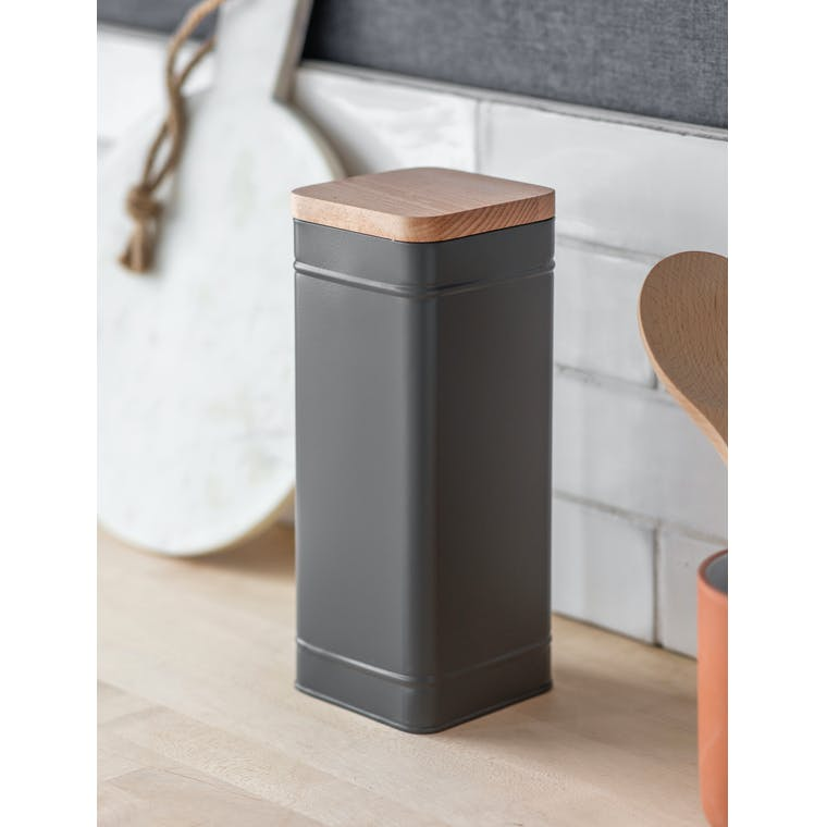 Garden Trading Bororough Canister, Tall in Charcoal