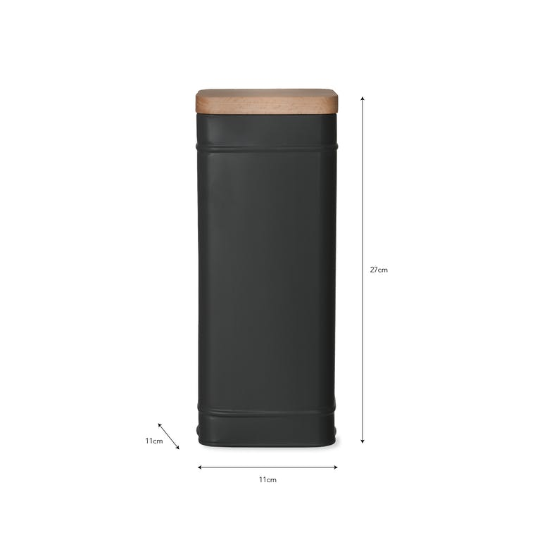 Steel Borough Tall Canister in White or Grey | Garden Trading
