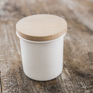 Canister with Wooden Lid