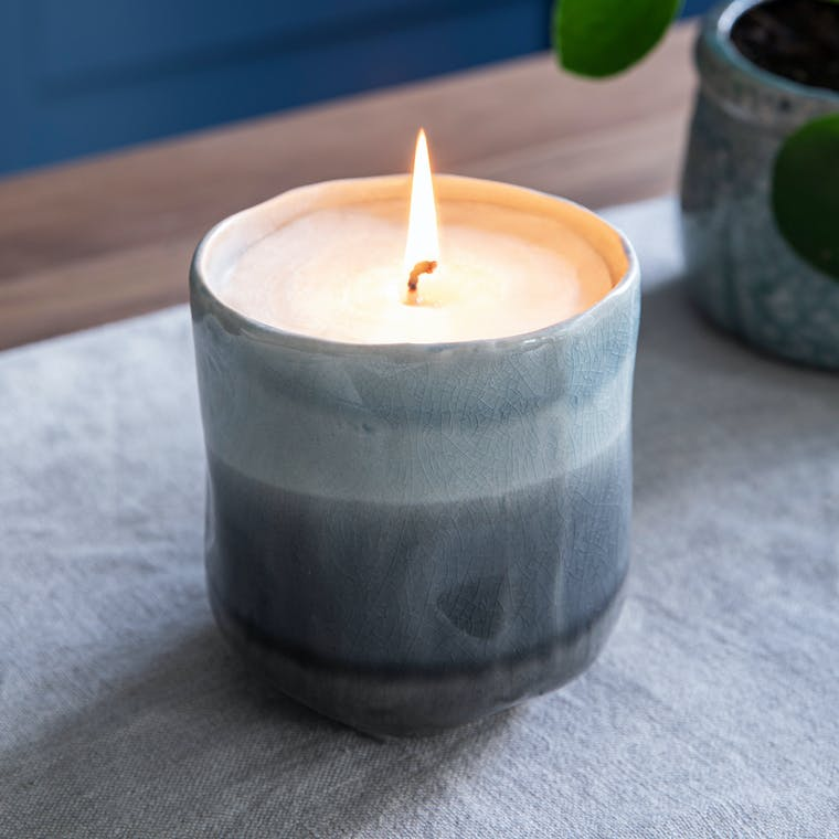 Ceramic Frith Candle in Medium or Large | Garden Trading