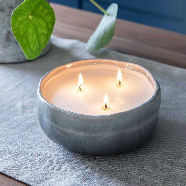 Ceramic Frith Candle in Medium or Large   Garden Trading