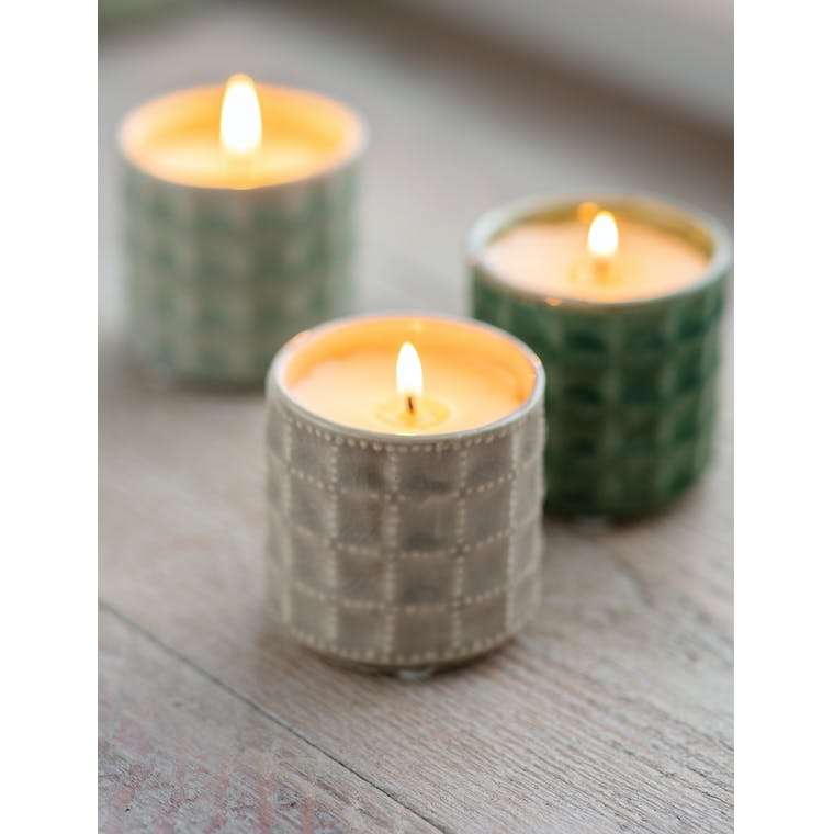 Garden Trading Sorrento Candle in Stone - Hay Meadow - Ceramic