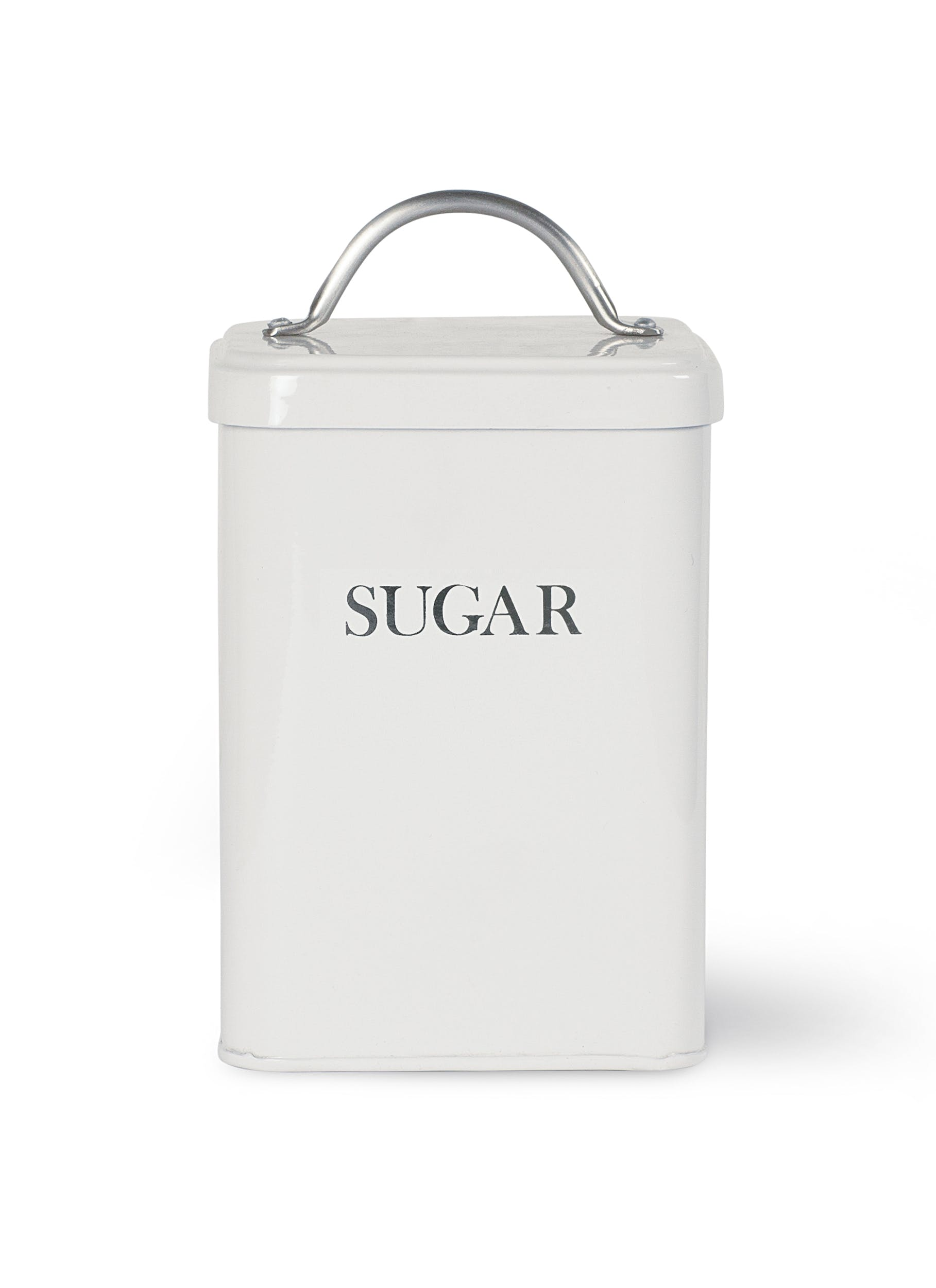 Steel Sugar Canister in Grey, White or Cream | Garden Trading