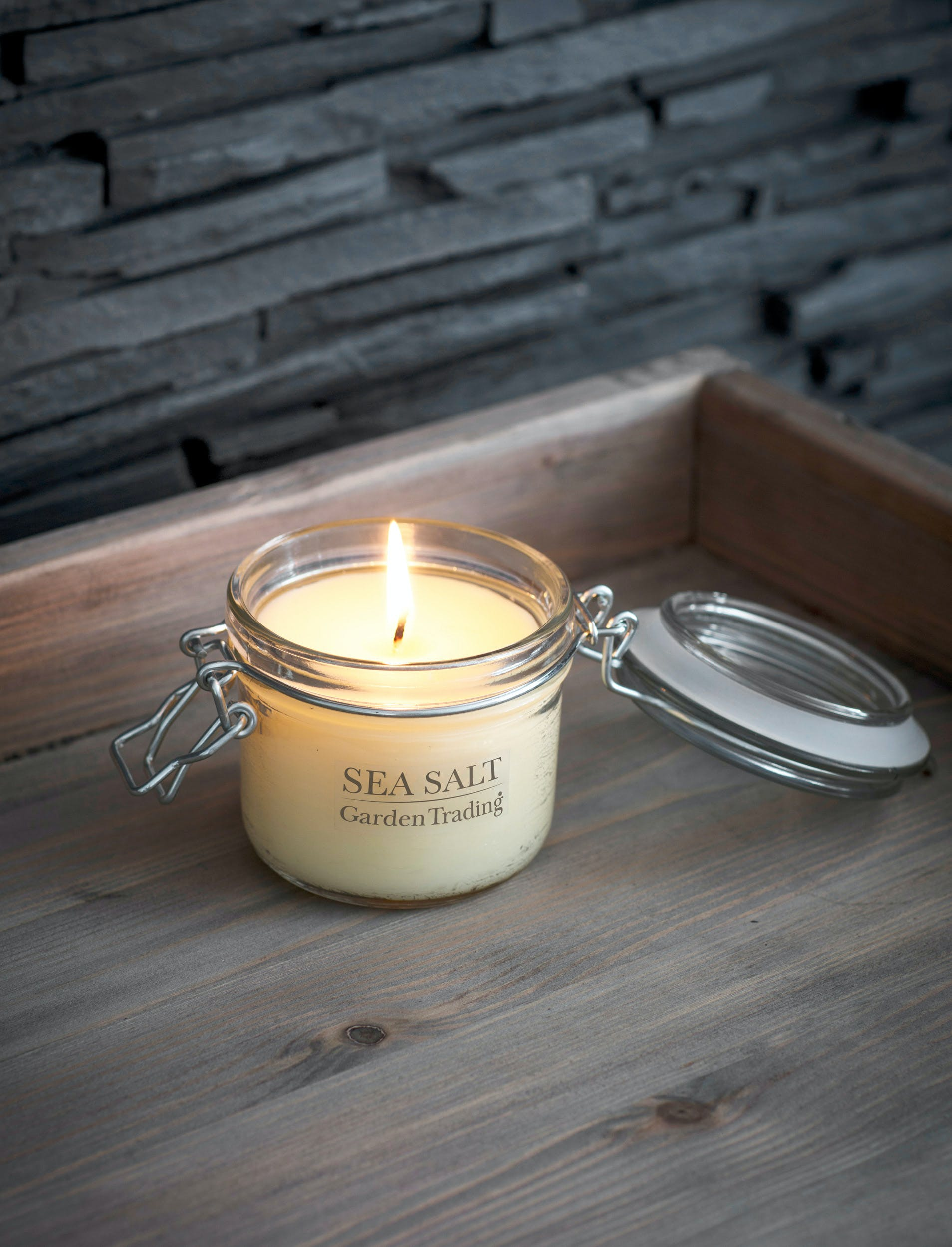 Glass House Candle in Sea Salt  | Garden Trading